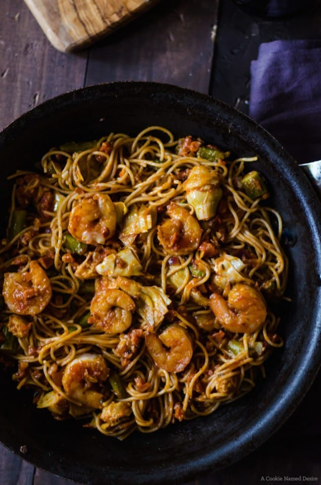 the table this holiday season with an easy, hearty pancetta and shrimp ...