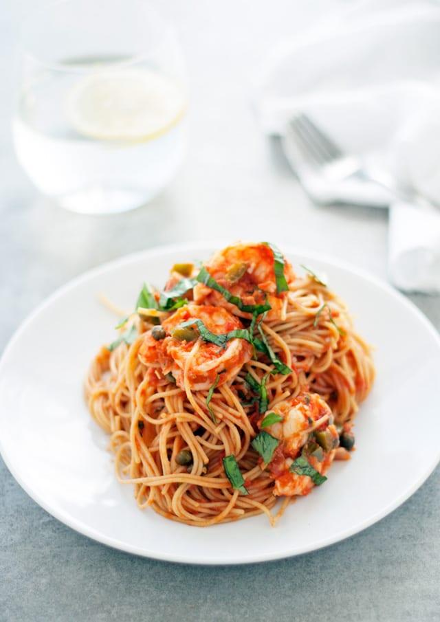 Italian Holiday Table: Spicy Shrimp Pasta and Olive Oil Orange Cake