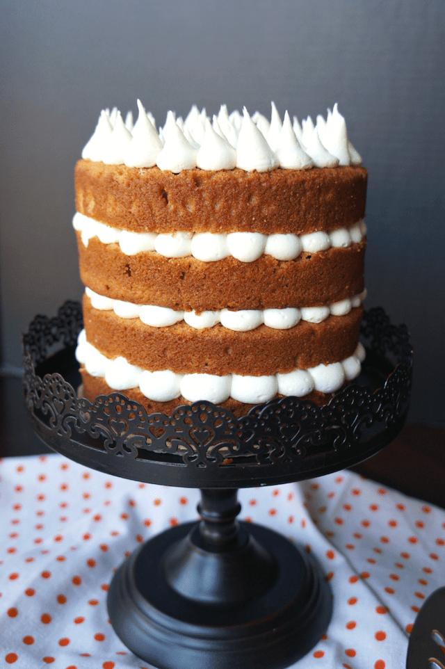 Sweet Potato Marshmallow Cake