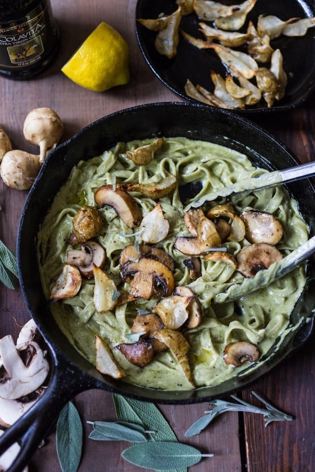 Italian Holiday Table: Mushroom and Sunchoke Pasta with Artichoke Sage ...
