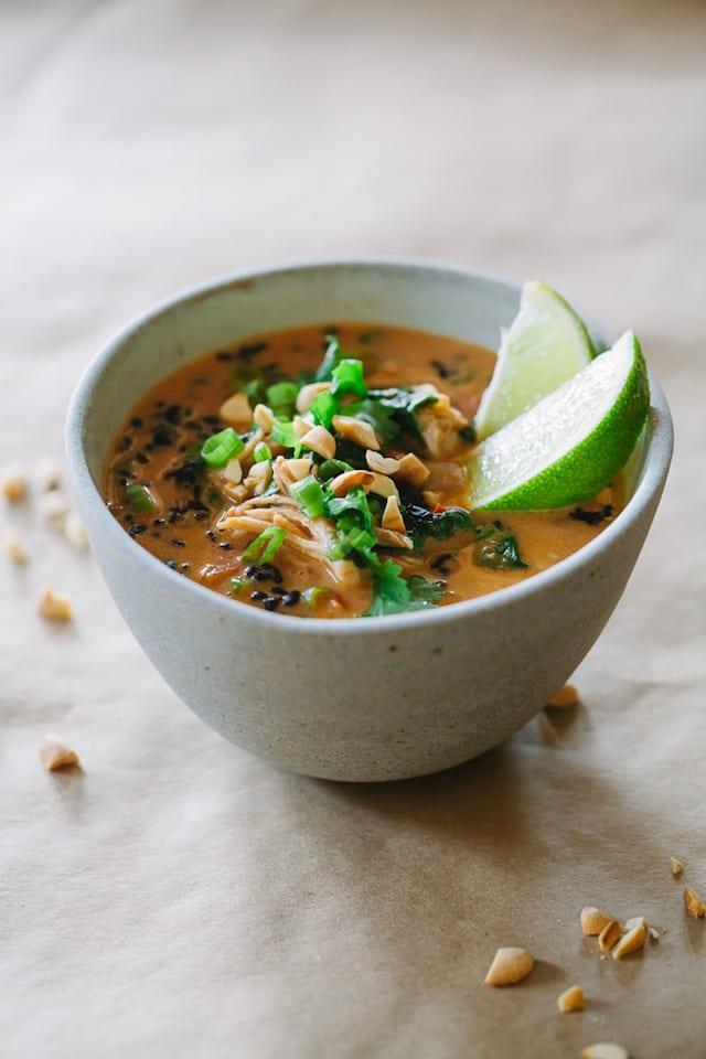 Thai Chicken Soup Recipe — Dishmaps