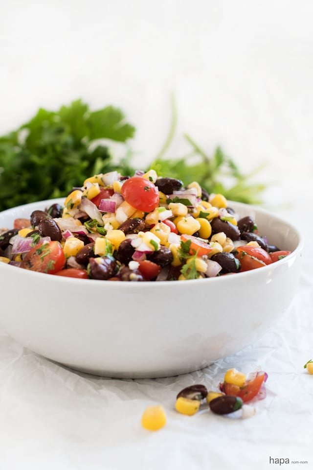 black bean corn salad recipe yummly black bean and corn salad grilled ...