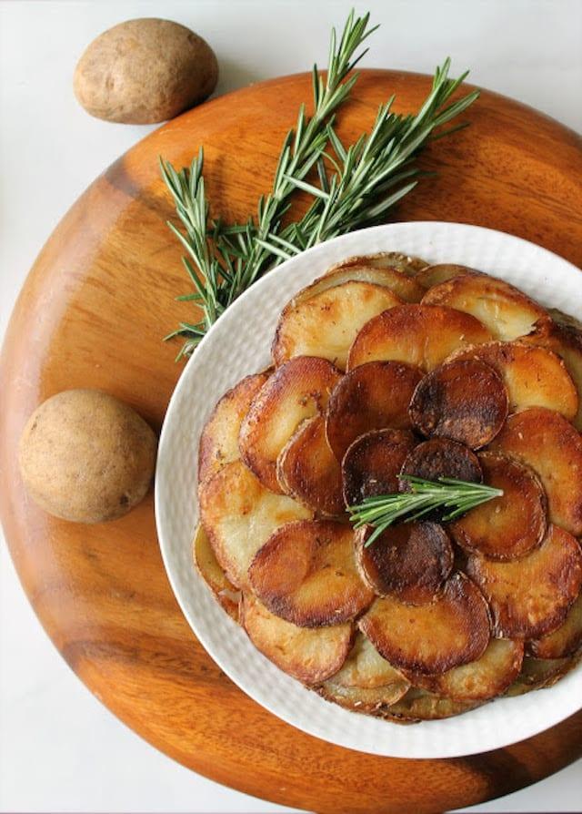 Layered Rosemary Potato Cake