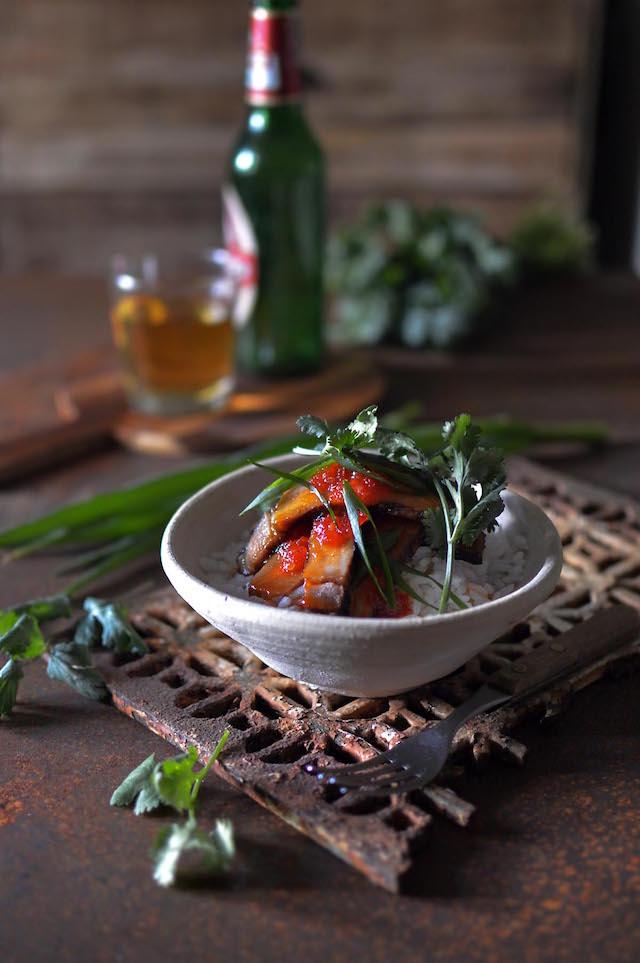 BBQ Thai Pork and Sweet Chili Sauce