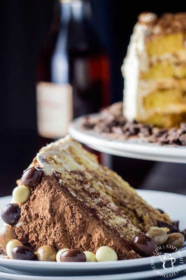 Tiramisu Cake with Chocolate Covered Espresso Beans1