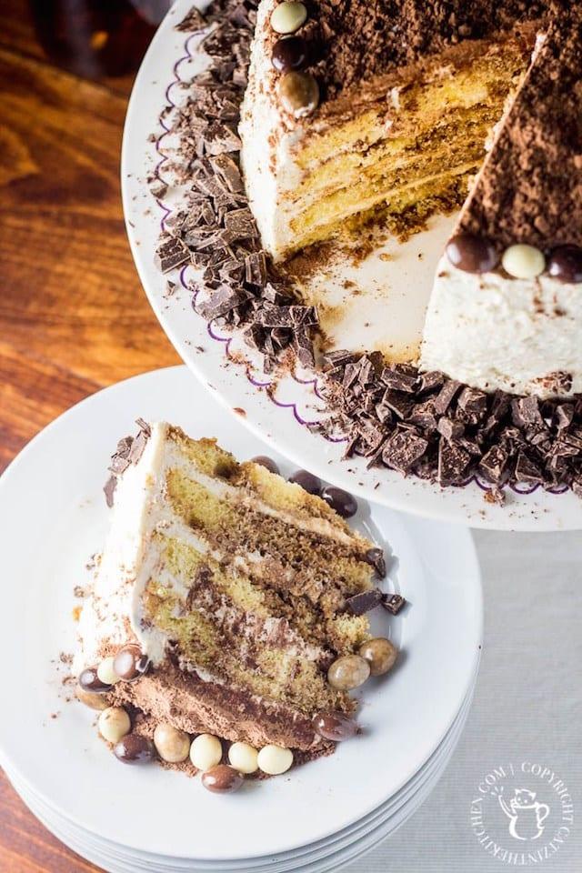 Tiramisu Cake with Chocolate Covered Espresso Beans2