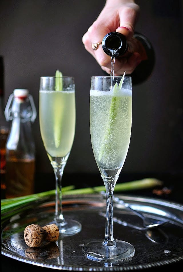 Elegant cocktails with spritz honest cooking for Champagne mixed drinks