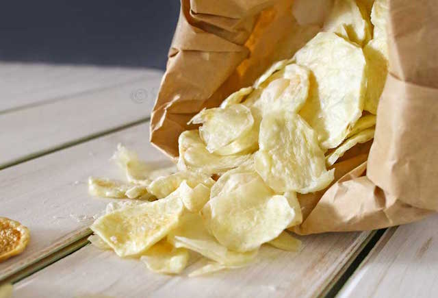how to make homemade chips without oil