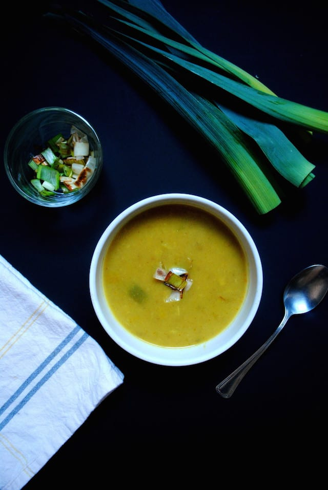 Leek and Curry Potato Soup1
