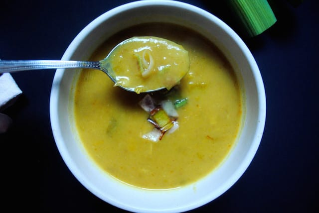 Leek and Curry Potato Soup4
