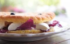 Mozzarella, Radicchio and Tropea Red Onion Panini
