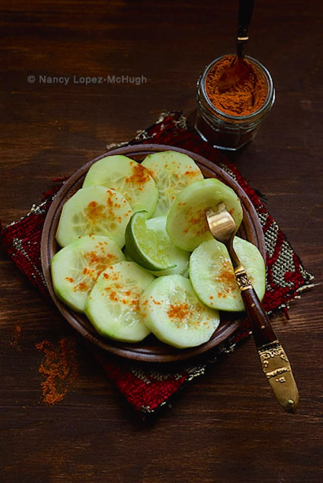 Cucumbers with Chile and Lime