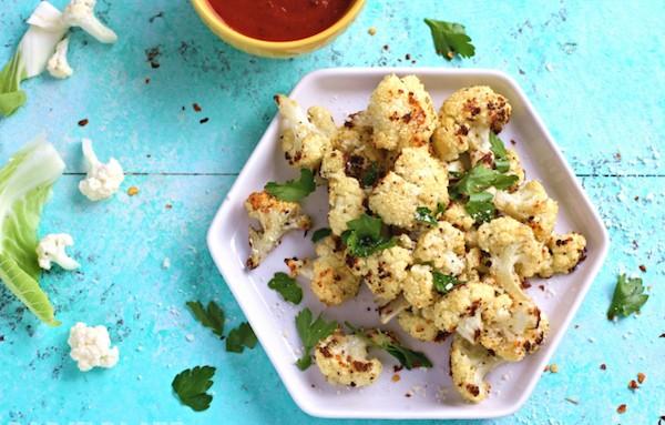 Parmasean Herb Roasted Cauliflower and Marinara Dip3