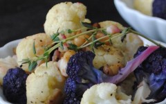 Roasted Cauliflower with Thyme and Pine Nuts1