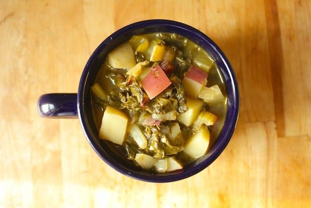 Potato and Rainbow Chard Soup