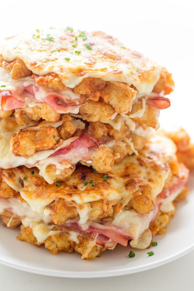 Hash Brown Croque Monsieur Sandwich