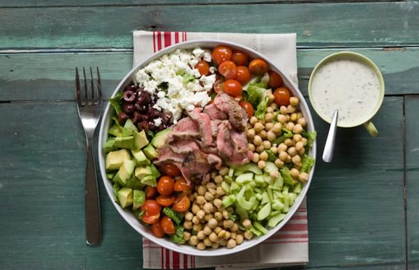 Steak Salad with Lemon Yogurt Dressing