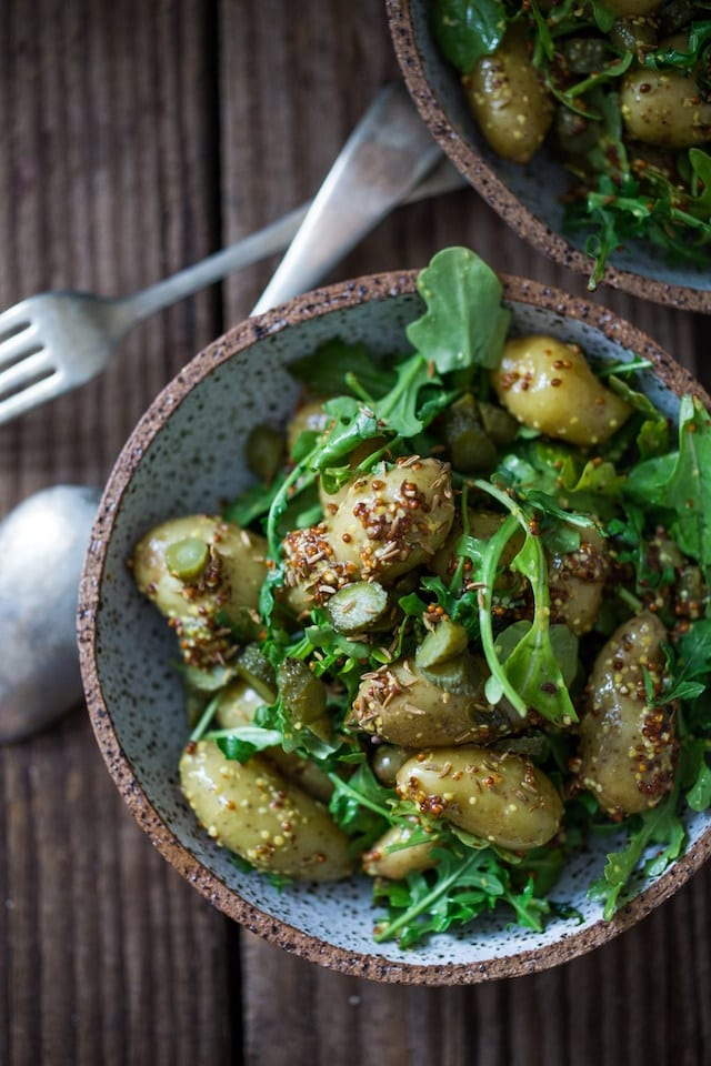 Warm Mustard Seed Potato Salad