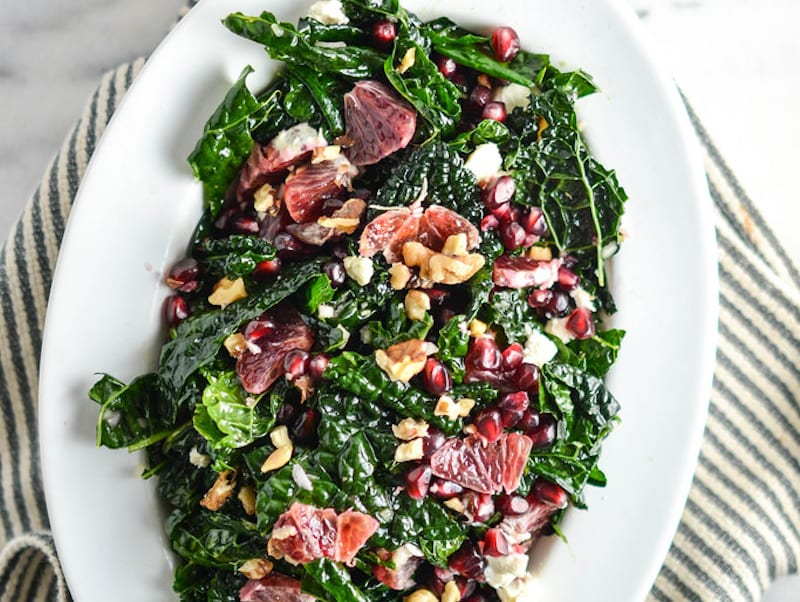 Blood Orange and Pomegranate Massaged Kale Salad – Honest Cooking