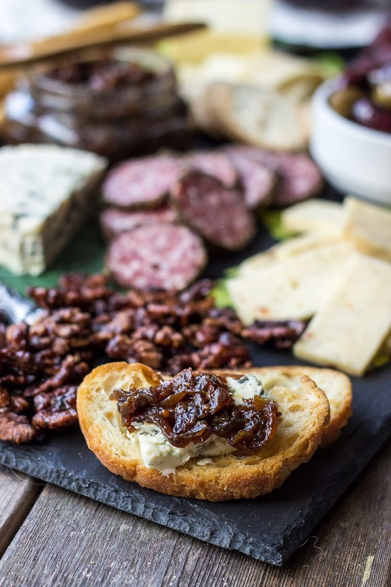 A Stunning Cheese Board with Bacon Jam