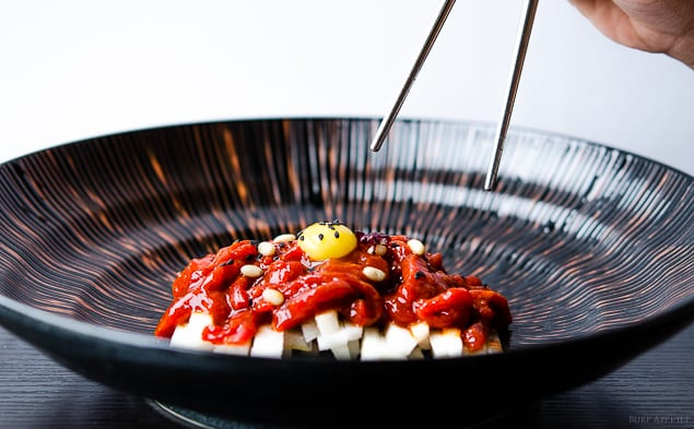 ... own natural form, even raw. Try this version of Korean beef tartare