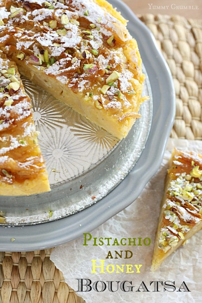 Greek Bougatsa with Honey and Pistachios – Honest Cooking