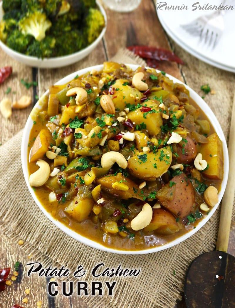 Sri Lankan Potato-Cashew Curry