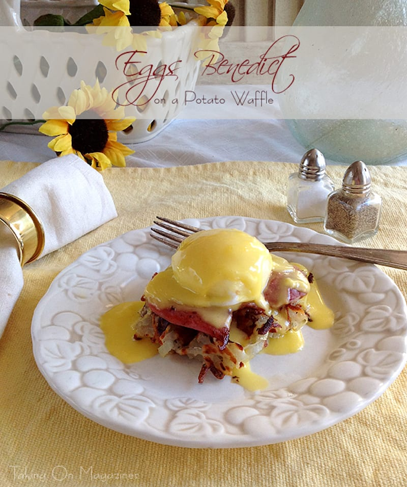 Potato Waffle Eggs Benedict