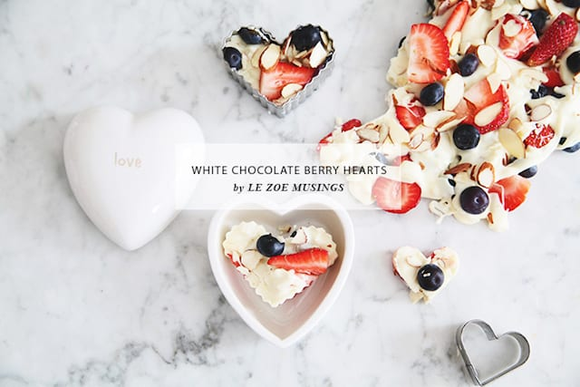 Easy White Chocolate Fruit Hearts