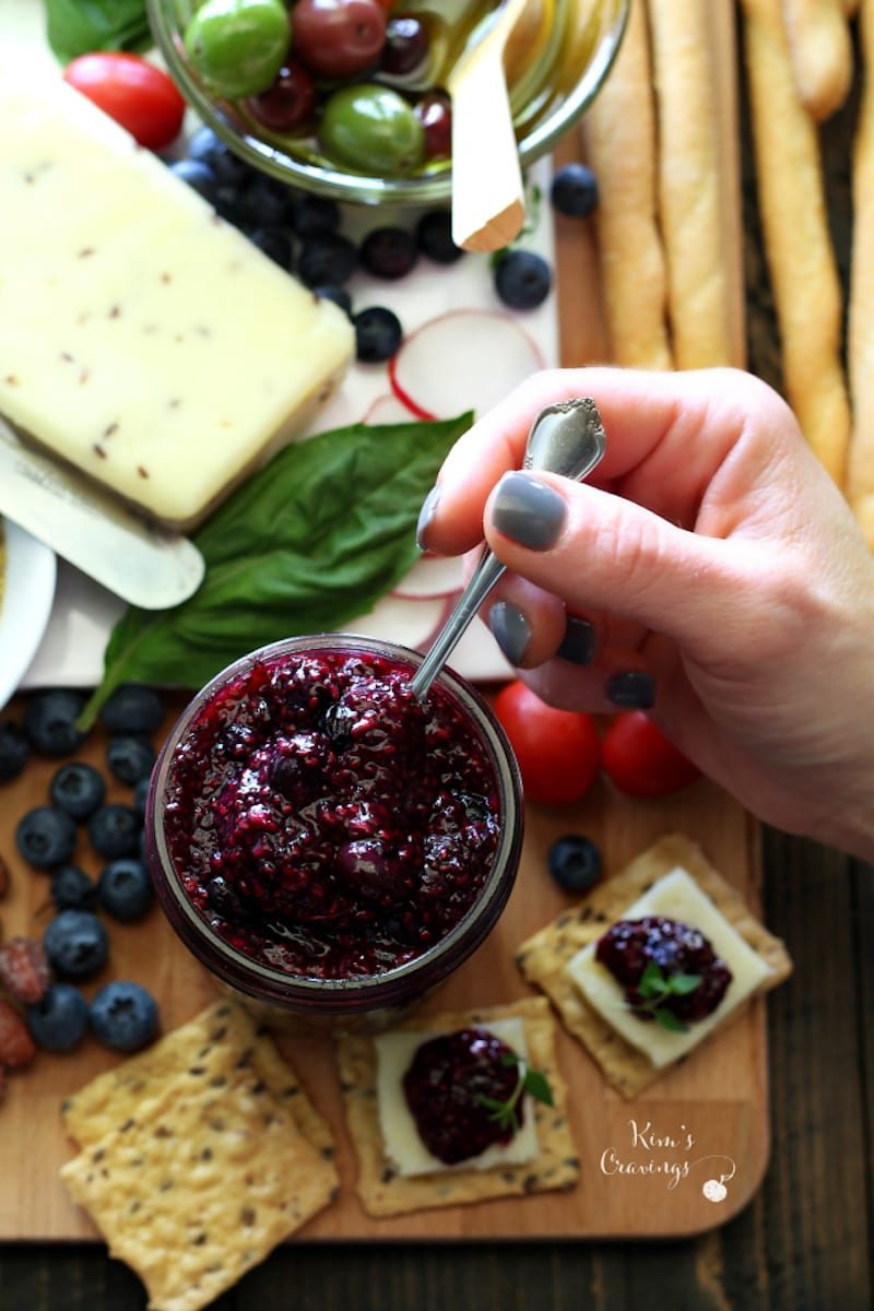 Delicious Cheese Spread with Chia Seed Jam