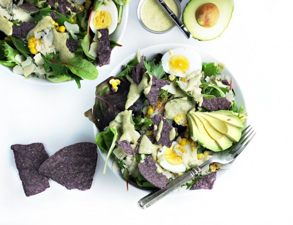 Roasted Poblano Caesar Salad