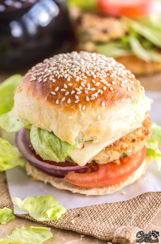 Indian Aloo Tikki Veggie Burger