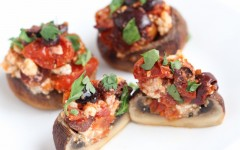 Feta and Tomato Roasted Stuffed Mushrooms2