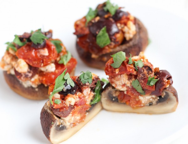 Feta and Tomato Roasted Stuffed Mushrooms2