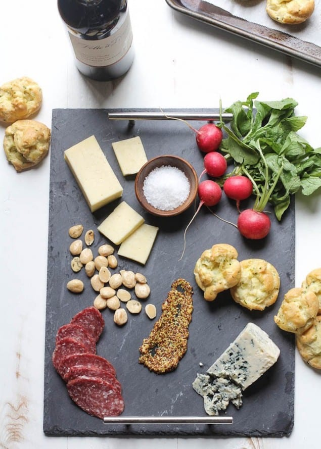 Ramp Gougères and a Spring Cheese Board