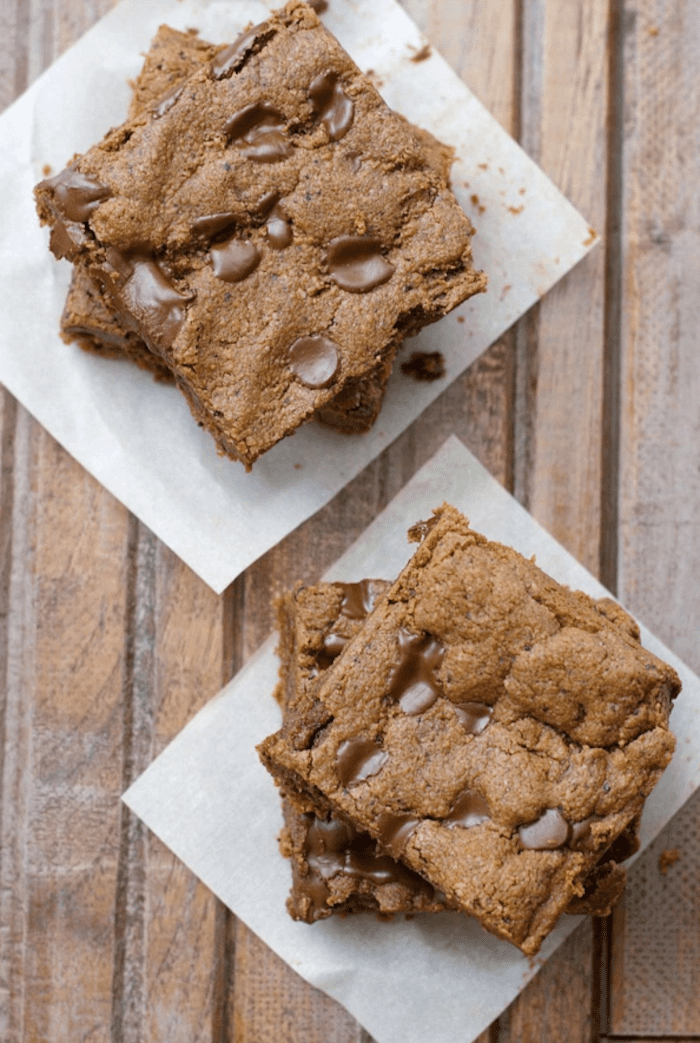 Chocolate Espresso Almond Butter Bars