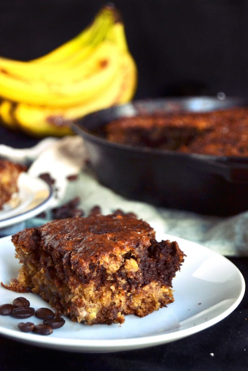 Skillet Chocolate Espresso Banana Bread