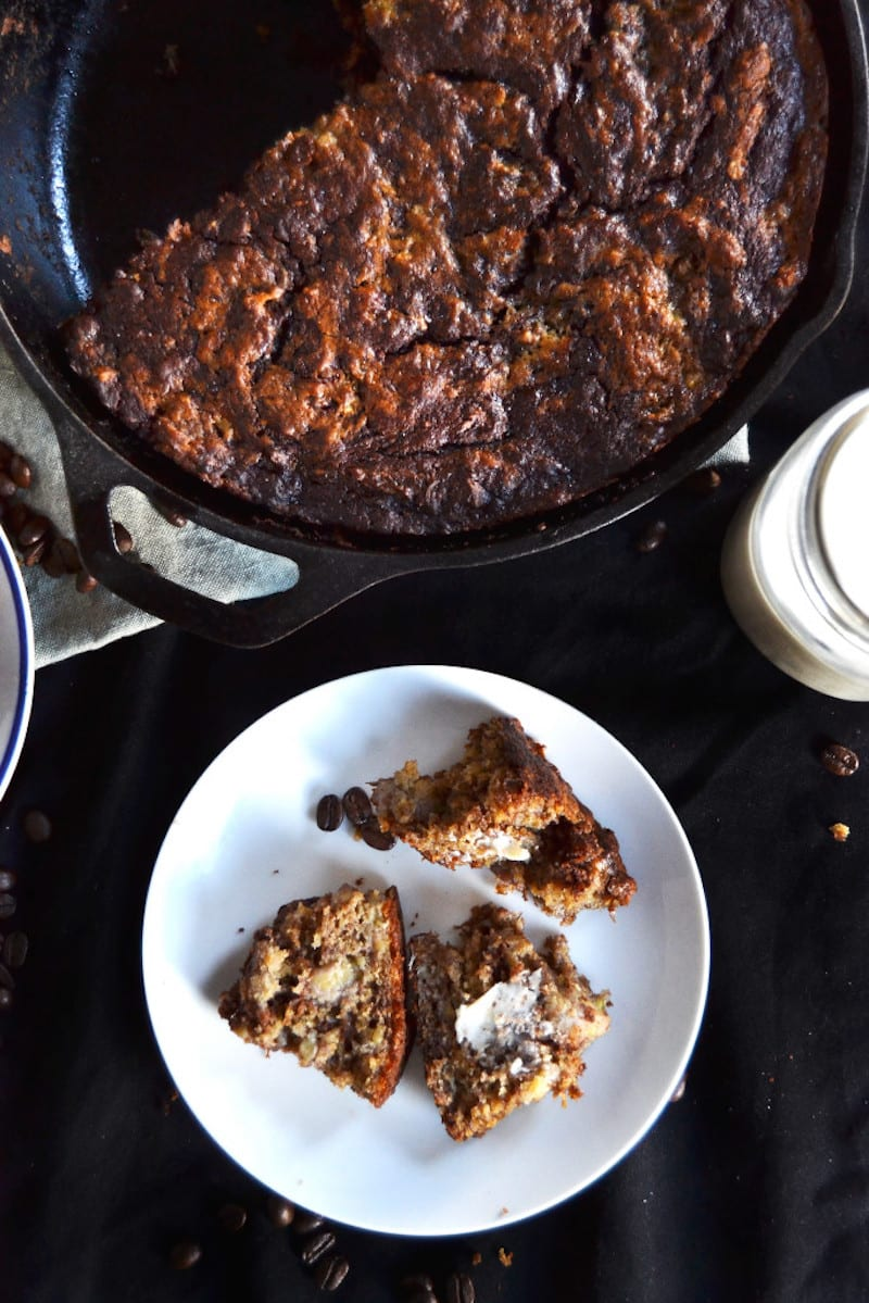 Skillet Chocolate Espresso Banana Bread2