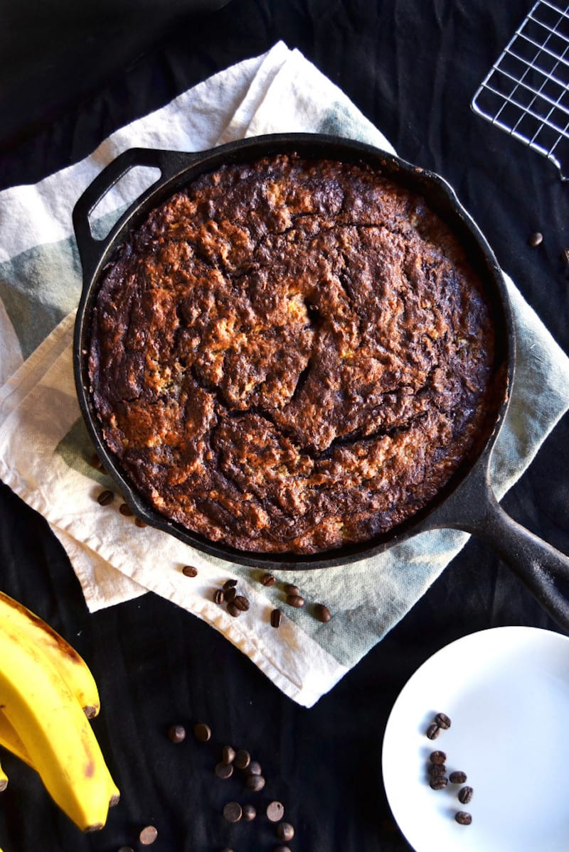Skillet Chocolate Espresso Banana Bread6