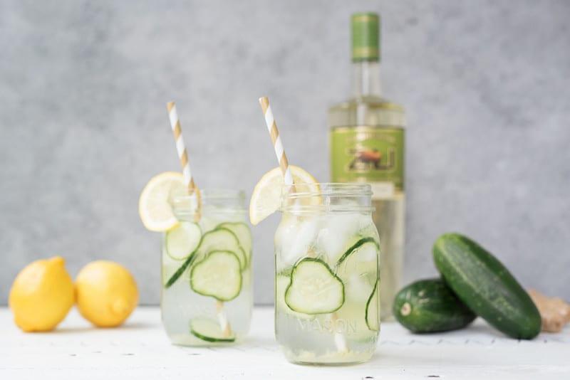 Lemon and Ginger Cucumber Cooler