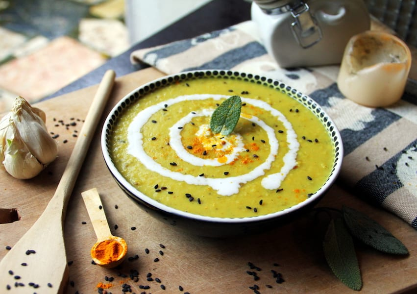 how to make lentil soup thicker