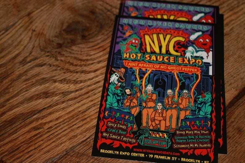 2016 NYC Hot Sauce Expo Card