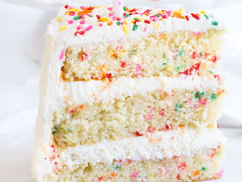 Admirable Funfetti Cake No Box Needed Personalised Birthday Cards Paralily Jamesorg