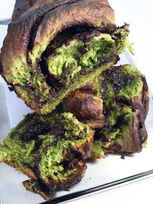 Matcha Babka Bread