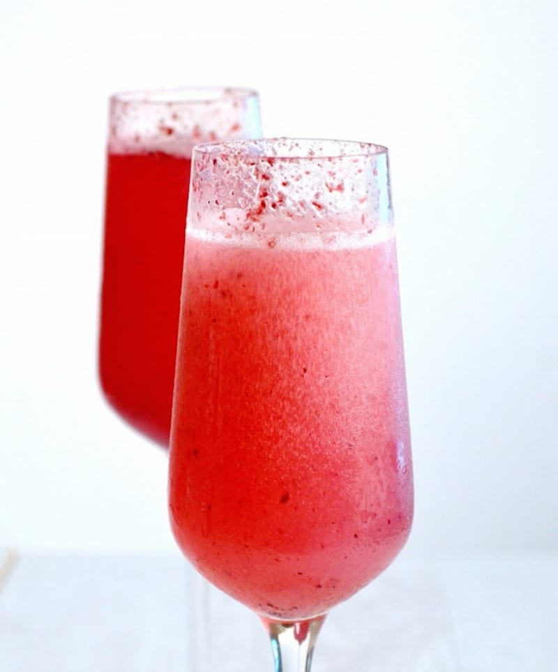 delicious, bubbly, and fruity celebration cocktail fit for a toast.