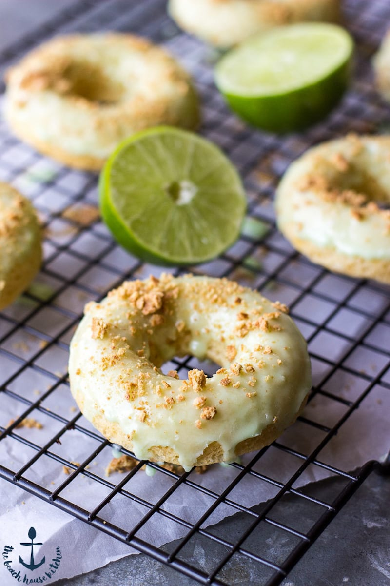 Key Lime Glazed Donuts with Graham Cracker Sprinkles