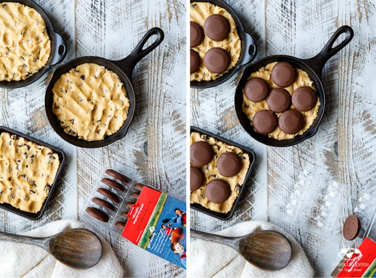 Peanut Butter Cookie Dough Skillet Brownie