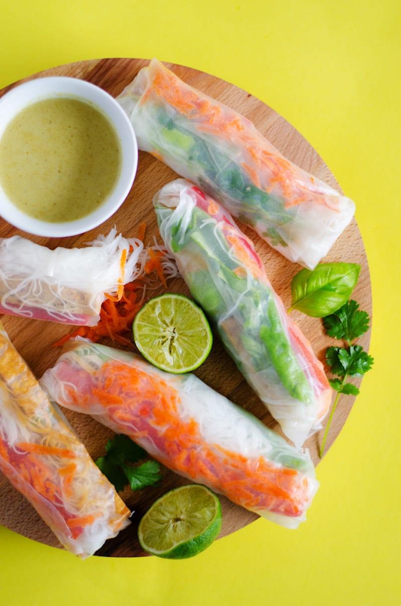 Green Curry Thai Spring Rolls