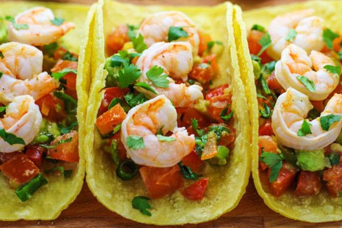 These shrimp tacos with avocado pico, or salsa, are super easy to make ...