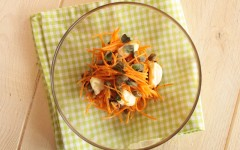 CARROTS AND CAPERS SALAD WITH RICE CHEESE PTH. G. GIUSTOLISI